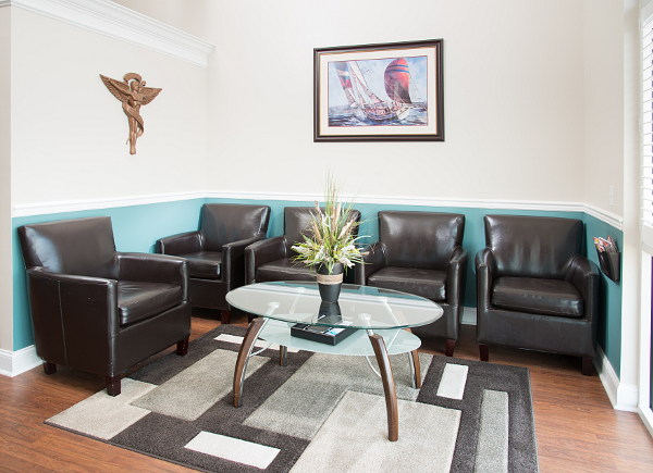 Reception area of Kent Island Chiropractic